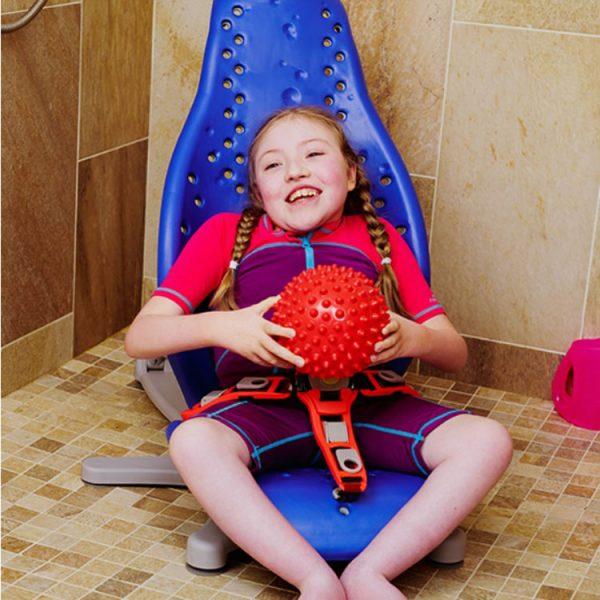 Splashy lasten suihkutuoli.